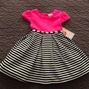Toddler girl two-tone dress